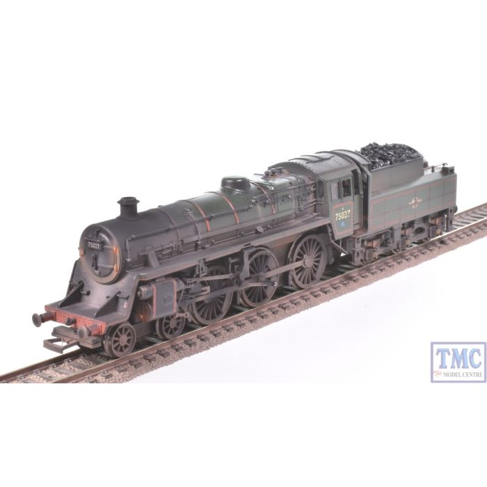 31-107 Bachmann OO Gauge Standard 4MT 75027 BR Green L/Crest BR2 Tender  Real Coal Crew & Glossy Weathering by TMC (Pre-owned)