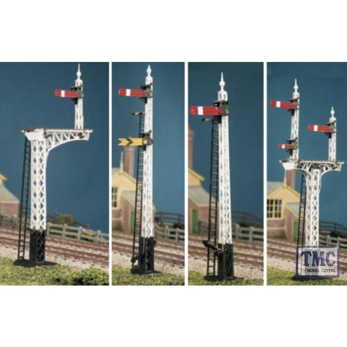Ratio 486 LNER Latticed Post Signal Kit Makes 4 Signals /'00/' Gauge Kit 2ndPost