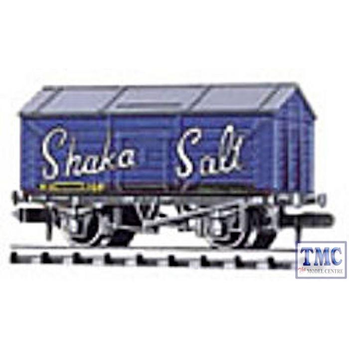 NR-P121 Peco N Gauge Salt Wagon Shaka Bright Blue Weathered by TMC