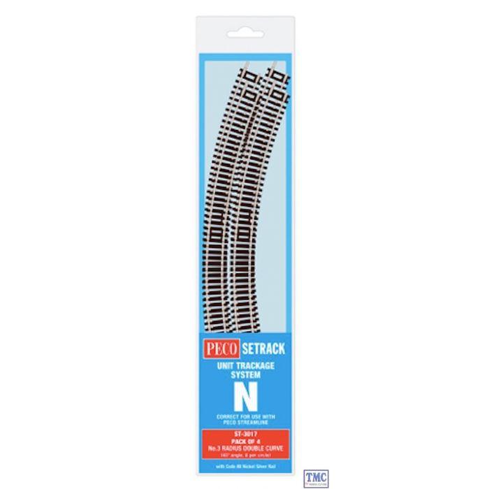 Peco Setrack N Gauge Code 80 Nickel Silver Track Various Straights /& Curves