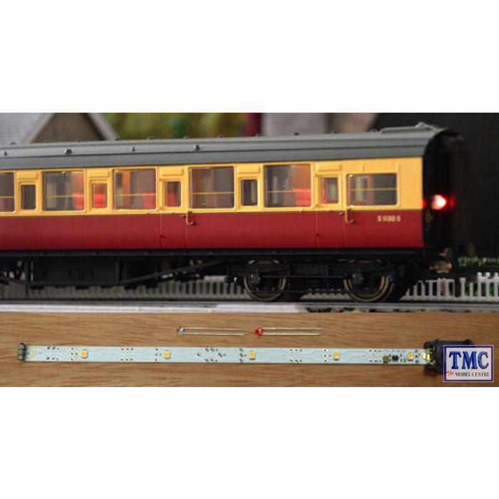 TTCL22 Train Tech HO/OO Scale Standard Coach Lighting Strips - Warm White &  Flickering Tail Light