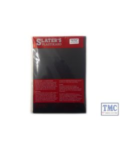 "0115B Slaters 0.015"" (0.38mm) x 330mm x 220mm sheet Black Plastikard"