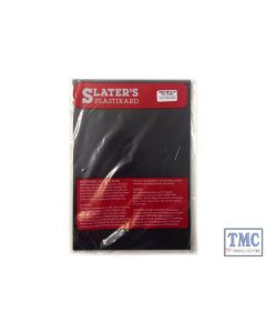 "0120B Slaters 0.020"" (0.50mm) x 330mm x 220mm sheet Black Plastikard"