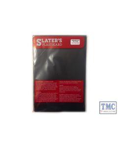 """0130B Slaters 0.030"""" (0.75mm) x 330mm x 220mm sheet Black Plastikard"""