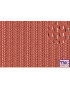 0444 Slaters 2mm Pantile Roofing Red 300mm x 174mm Plastikard