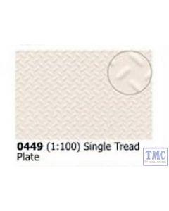 0449 Slaters Single Treadplate 1:100 scale 300mm x 174mm Plastikard
