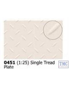 0448 Slaters Double Treadplate 1:25 scale 300mm x 174mm Plastikard