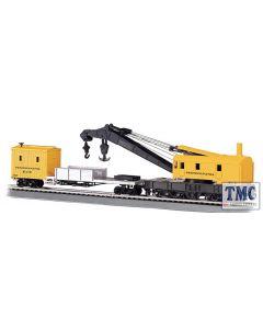16114 Bachmann OO/HO Scale 250-Ton Steam Crane & Boom Tender - Pennsylvania (Yellow)