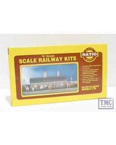 204 Ratio Station Building N Gauge Plastic Kit
