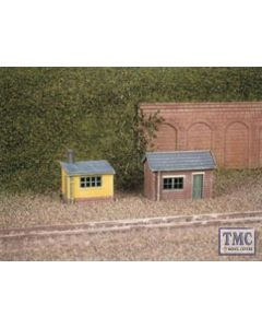 237 Ratio 2 Lineside Huts (1 brick 1 wood) N Gauge Plastic Kit