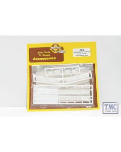 243 Ratio GWR Station Fencing White N Gauge Plastic Kit