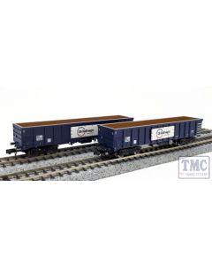 2F-025-012 Dapol N Gauge MJA Bogie Box Wagon GB Railfreight 502009/010