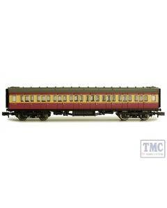 2P-012-700 Dapol N Gauge Maunsell Coach BR 3rd Class Crimson & Cream 2352