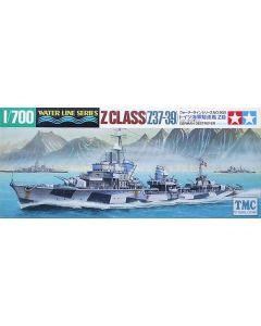 Tamiya 1:700 Scale German Destroyer Z Class (Z37-39) Kit No 31905 (Pre owned)