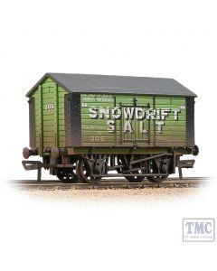 33-182A Bachmann OO Gauge 10T Covered Salt Wagon 'Snowdrift Salt' Green - Weathered