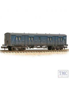 374-632A Graham Farish N Gauge SR Bogie B Luggage Van BR Blue - Weathered