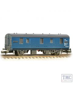 374-640 Graham Farish N Gauge BR Mk1 CCT Covered Carriage Truck BR Blue - Weathered