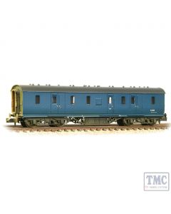 374-890 Graham Farish N Gauge LMS Stanier 50ft Full Brake BR Blue - Weathered