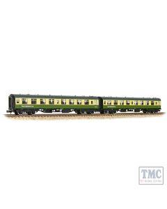 374-994 Graham Farish N Scale BR Mk1 TSO 2-Coach Pack BR West Highland Line Green & Cream