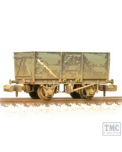 377-453 Graham Farish N Gauge 16T Steel Slope-Sided Mineral Wagon BR Grey (Early) - Weathered