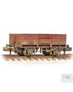 377-956 Graham Farish N Gauge LNER 13T Steel Open With Chain Pockets BR Bauxite (Late) - Weathered