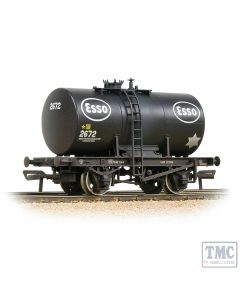 38-777A Bachmann OO Gauge 20T Class B Anchor-Mounted Tank Wagon 'Esso' Black - Weathered