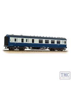 39-462 Branchline OO Gauge LMS 57ft 'Porthole' Brake Second Corridor BR Blue & Grey