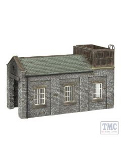 42-0002 Scenecraft N Scale Stone Engine Shed with Tank