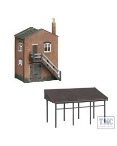 42-0088 Scenecraft N Scale Industrial Store and Canopy