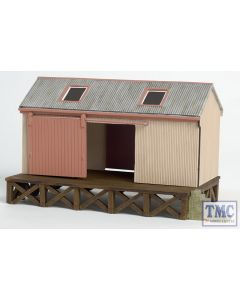 44-006 OO Gauge Scenecraft Corrugated Goods Shed