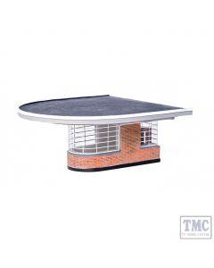 44-067 Scenecraft OO Gauge Art Deco Platform End Building