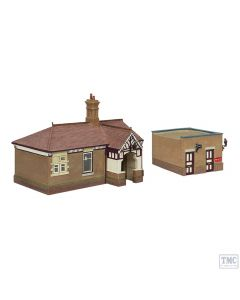 44-090C Scenecraft OO Gauge Bluebell Waiting Room and Toilet Crimson and Cream