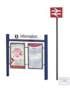 44-548 Scenecraft OO Gauge Station Signage Set