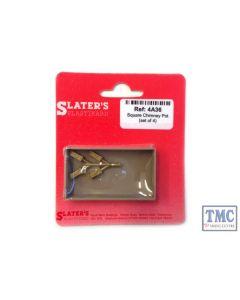 4A36 Slaters OO Gauge Square Chimney Pot set of 4 (cast brass)