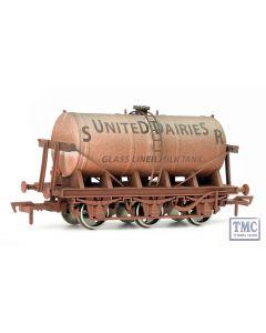 4F-031-002 Dapol OO Gauge 6 Wheel Milk Tank SR United Dairy Weathered