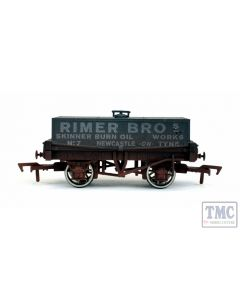 4F-032-022 Dapol OO Gauge Rectangular Tank Rimer Bros 7 Weathered