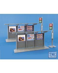 5007 Modelscene OO Gauge Bus Stop & shelter