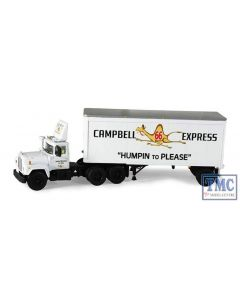 60-0254 First Gear 1:64 SCALE Mack R Model 'Campbell 66 Express' with 28' Pup Trailer