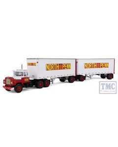 60-0287 1:64 SCALE Mack R Model with 28' Pup Trailers 'North Penn Transfer'