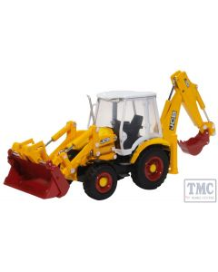 763CX003 Oxford Diecast OO Gauge JCB 3CX Eco Backhoe Loader 70th Anniversary