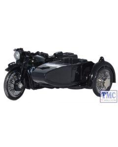 76BSA006 Oxford Diecast Motorbike/Sidecar Police 1/76 Scale OO Gauge