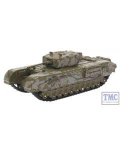 76CHT003 Oxford Diecast Churchill Tank 1942 RAC Tunisia 1943