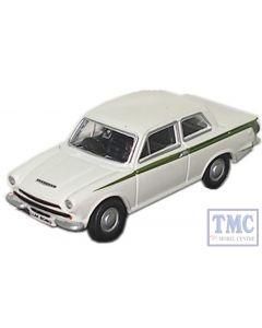 76COR1001 Oxford Diecast Cortina MK I White 1/76 Scale OO Gauge