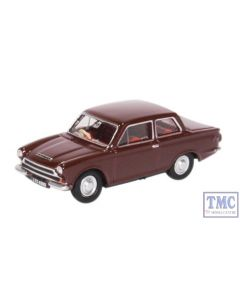 76COR1009 Oxford Diecast OO Gauge Ford Cortina MK1 Black Cherry