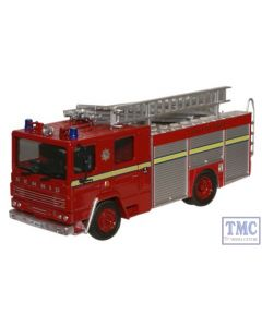 76DN001 Oxford Diecast London FB Dennis RS Fire Engine 1/76 Scale OO Gauge