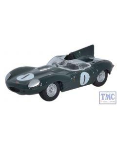 76DTYP001 Oxford Diecast Jaguar D Type 1956 Le Mans 1/76 Scale OO Gauge