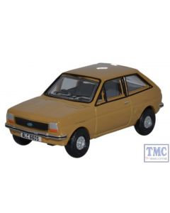 76FF002 Oxford Diecast Ford Fiesta Mk1 Nevada Beige 1/76 Scale OO Gauge