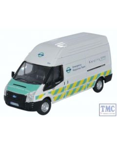 76FT029 Oxford Diecast Ford Transit Mk5 LWB High Docklands Light Railway