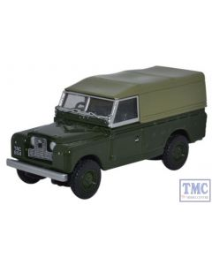 76LAN2011 Oxford Diecast Land Rover Series II Canvas Back Bronze Green 1/76 Scale OO Gauge