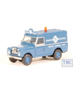 76LAN2017 Oxford Diecast OO Gauge Land Rover Series II LWB Hard Top RAC Radio Patrol